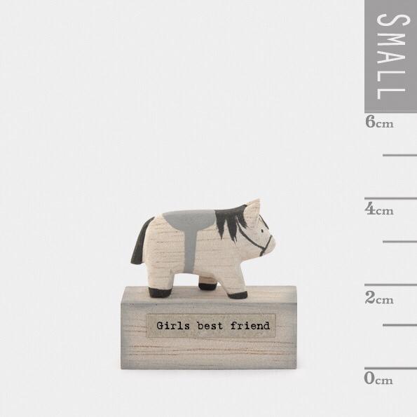 """Small wooden horse """"girls best friend """""""