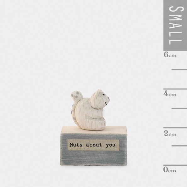Small wooden block with squirrel