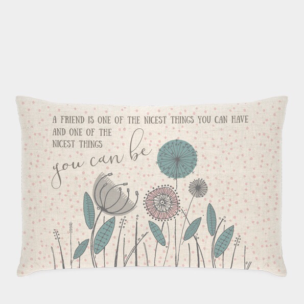 "East of India cushion ""friends"""