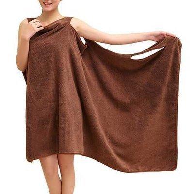 Honana BX-949 Summer Microfiber Soft Beach Able Wear Spa BathRobe Plush Highly Absorbent Bath Towel Skirt