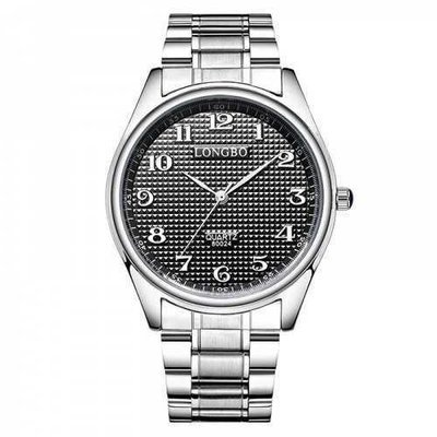 Longbo 80024 Leisure Stainless steel Band Couple Watch - Silver And Black Female