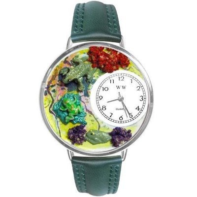 Frogs Watch in Silver (Large)