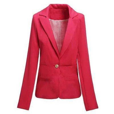 Fashion Casual Slim Ladies Buckle Stripe Lining Suit