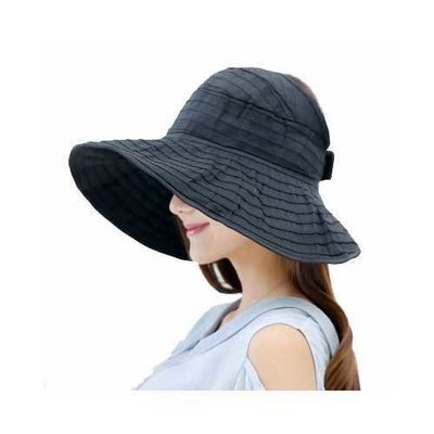 RD-503 Summer Women's Outdoor Sun Protection Folding Big Empty Top Beach Hat