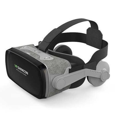 Shinecon VR G07E 3D Virtual Reality Glasses Box with Headphone for 4.7-6.1 Inch Phone