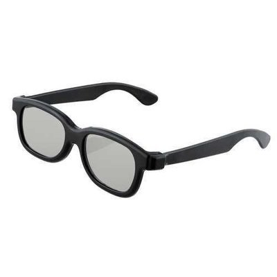 Black Round Polarized 3D Glasses for DVD LCD Video Game Theatre TV Theatre Movie