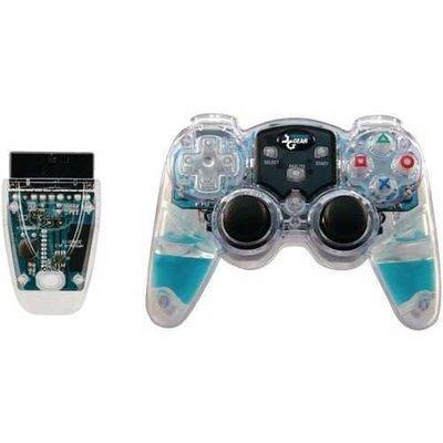 dreamGEAR(R) DGPN-524 PlayStation(R)2 Lava Glow Wireless Controller (Blue)