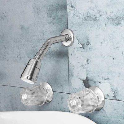 Bathroom Basin Shower Mixer Tap Double Handle Brass Bath Tub Shower Head Faucet Spout
