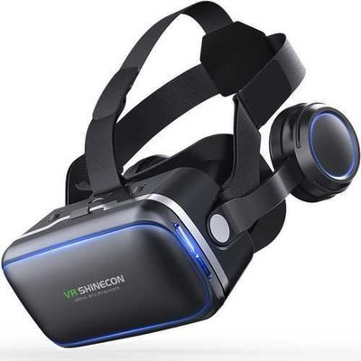 VR Shinecon 6.0 360 Degree Stereo 3D Virtual Reality Glasses Box Headset for 4.7-6.0 inch Smartphone