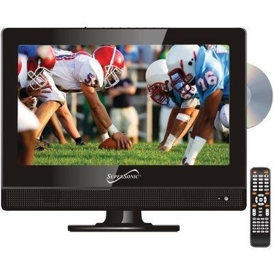 "Supersonic 13.3"" 720p Ac And Dc Widescreen Led Hdtv And Dvd Combination (pack of 1 Ea)"