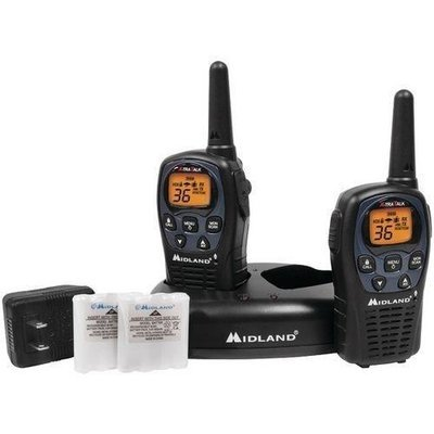 Midland 26-mile Gmrs Radio Pair Pack With Drop-in Charger & Rechargeable Batteries (pack of 1 Ea)