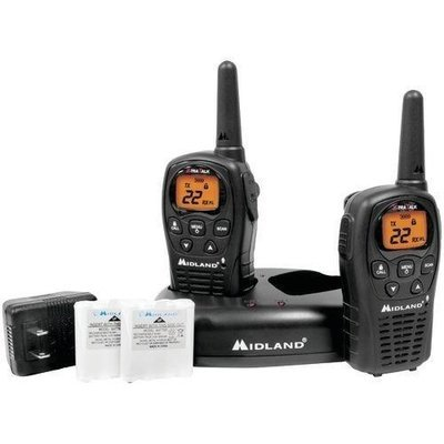 Midland 24-mile Gmrs Radio Pair Pack With Drop-in Charger & Rechargeable Batteries (pack of 1 Ea)