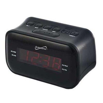 Supersonic Dual Alarm Clock Radio with Wireless Connectivity