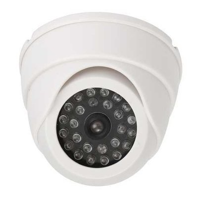 25 LED IR Color Night Video Dome Fake CCTV Camera Home Security Surveillan