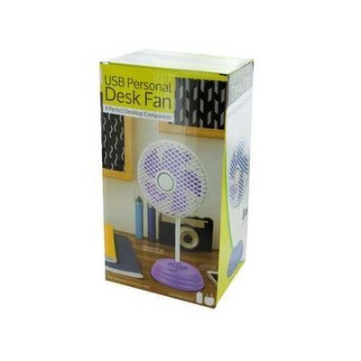 Classic Design USB Personal Desk Fan ( Case of 4 )