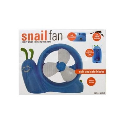 Battery Operated Snail USB Fan ( Case of 12 )