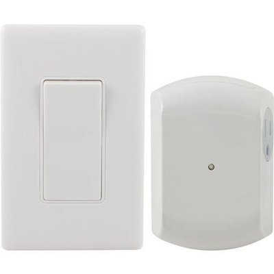 GE(R) 18279 Wireless Wall Switch Light Control with 1 Outlet Receiver