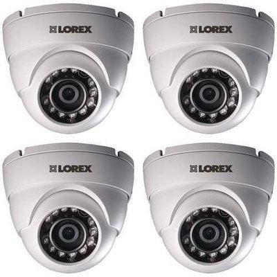 Lorex(R) LEV1522PK4B LEV1522B Super HD Dome Security Cameras for Lorex(R) HD DVR, 4 pk