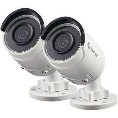 Swann(TM) SWNHD-850PK2-US 5.0-Megapixel Super HD Add-on PoE Bullet Camera, 2 pk