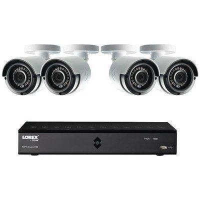 Lorex(R) LHA21081TC4B 8-Channel MPX 1080p HD 1TB DVR with 4 Weatherproof IR Cameras