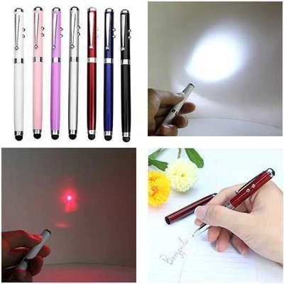 XANES RD03 4-In-1 Function 650nm Ballpen Capacitive Touch Red Laser Pointer