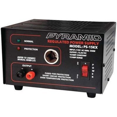 Pyramid 10-amp 13.8-volt Power Supply With Car-charger Adapter PYRPS15KX