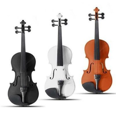 4/4 Full Size Basswood Natural Acoustic Violin Fiddle with Case Rosin Bow Multi-color