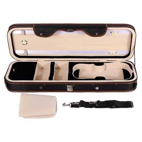 4/4 Violion Box Violin Case with Humidity table Straps locks Waterproof