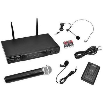 Pyle Pro Vhf Wireless Microphone Receiver System With Independent Volume Control PYLPDWM2115