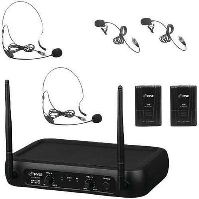 Pyle Pro(R) PDWM2145 VHF Fixed-Frequency Wireless Microphone System