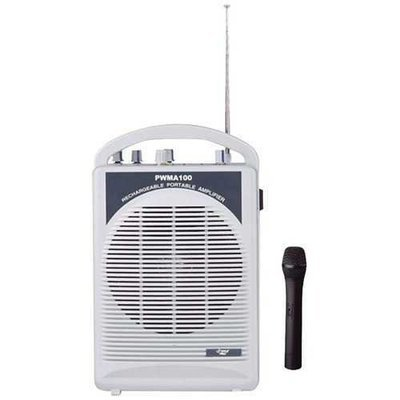 Pyle Pro Rechargeable Pa Speaker With Wireless Microphone PYLPWMA100