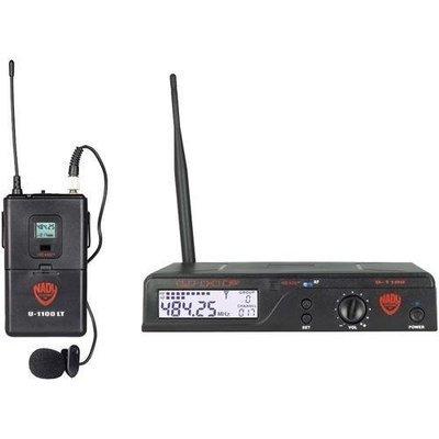 Nady(R) U-1100 LT/O/A UHF 100-Channel Wireless Lavalier Handheld Microphone System