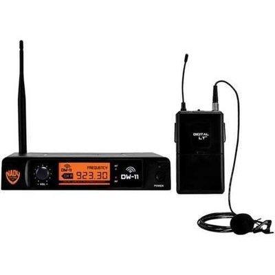 Nady(R) DW-11-LT-ANY Single-Channel Digital Wireless Microphone System (Digital LT(TM) LM-14/O Lapel Microphone)