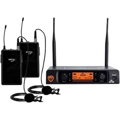 Nady(R) DW-22-LT-ANY Dual-Transmitter Digital Wireless Microphone System (2 Digital LT(TM) LM-14/O lapel microphones)