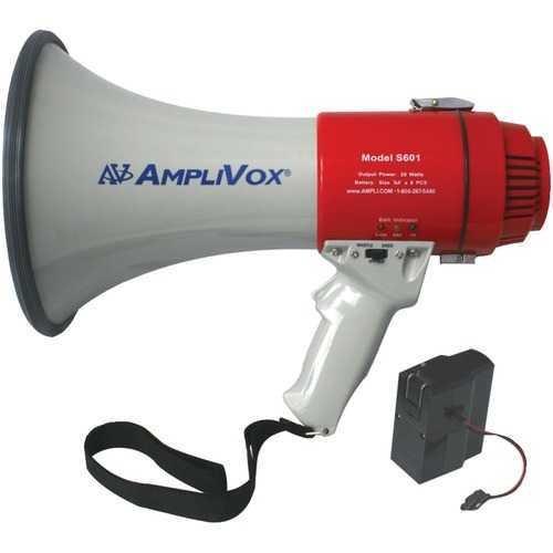 AmpliVox(R) SB601R Mity-Meg 15-Watt Megaphone (Bundled with rechargeable battery)
