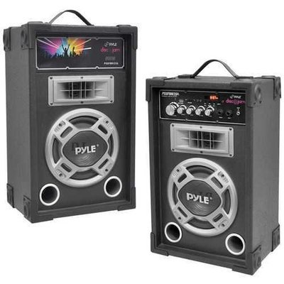 Pyle Pro Dual 800-watt Disco Jam Powered 2-way Pa Speaker System With Auxiliary Jack PYLPSUFM835A