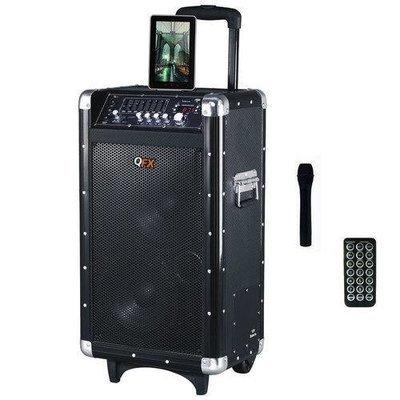 QFX 2x8 Battery Powered Bluetooth PA Speaker with FM/Radio/USB/SD