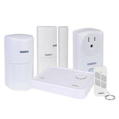Uniden AppHome Smart Home Security System w/6x Window/Door Sensors, 4x Power Switchers, 1x Motion Sensor, 1x Remote