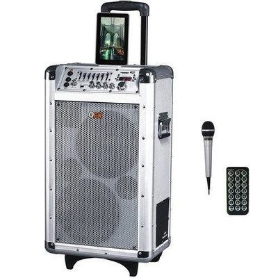 QFX 2 x 8 Battery Powered Bluetooth PA Speaker