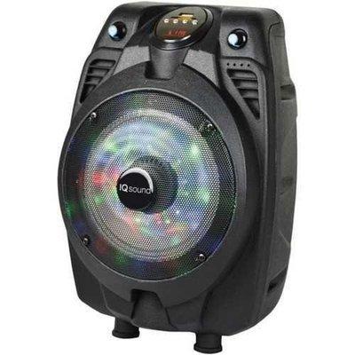 IQ Sound(R) IQ-3206DJBT -BLK 6 Portable Bluetooth(R) Speaker
