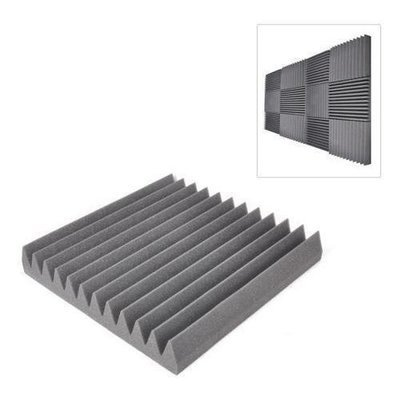 Sound Panel Soundproofing Studio Foam Acoustic Recording Wedge Panels, Isolation, Absorption, Audio Dampening Wall Tiles (24 Pieces) 12'' x 12'' Squares