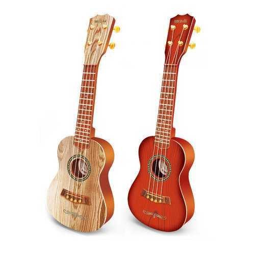 4 Strings Plastic Ukulele Uke Guitar Educational Musical Instrument Toy for Children