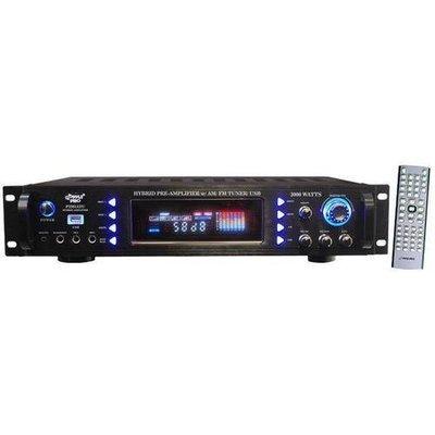 3000 Watts Hybrid Home Stereo Receiver Amplifier w/ AM/FM Tuner/ USB