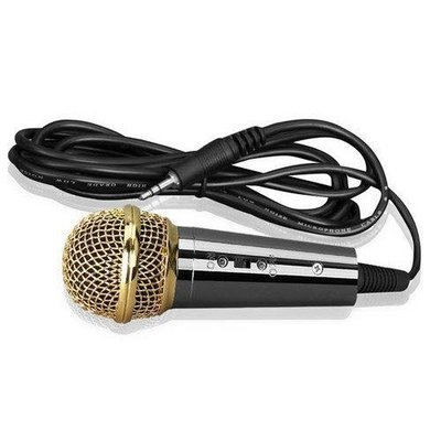 Wired Vocal Microphone, Handheld Condenser Mic, 3.5mm Connector (Black)