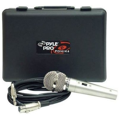 Professional Handheld Microphone, Dynamic Moving Coil Mic with 15' ft. XLR Cable & Carry Case