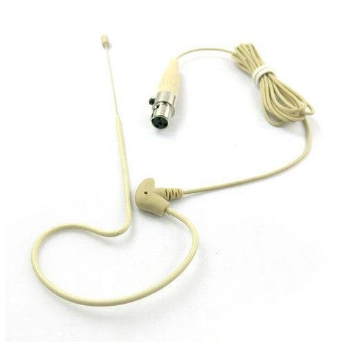 4-Pin XLR Ear-Hanging Omni-Directional Microphone, Omni-Directional (for Shure Systems)