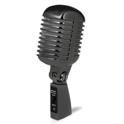 Classic Retro Dynamic Vocal Microphone, Vintage Style Vocal Mic with 16' ft. XLR Cable (Black)