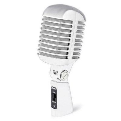 Classic Retro Dynamic Vocal Microphone, Vintage Style Vocal Mic with 16' ft. XLR Cable (Silver)