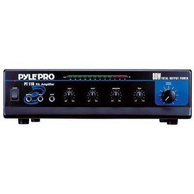 80 WATT AC/DC Microphone PA Mono Amplifier w/ 70V Output & Mic Talkover