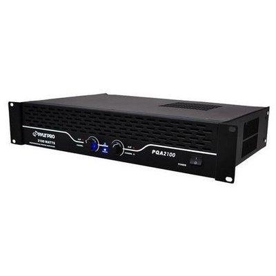 19'' Rack Mount Power Amplifier, SpeakON, Speaker Terminal Binding Posts, 1/4'' Connectors, 2100 Watt Amp